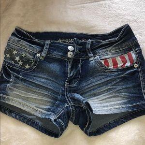 American Flag 🇺🇸 Jean Shorts